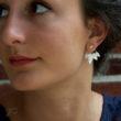 Boucles d'oreilles Feuillage - Dessous d'oreilles en argent