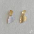 Photo des boucles ELLES avec les pendants enfilés côté or ou côté argent