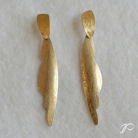 Photo des boucles pendantes longues ELLES - L