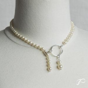 Collier de perles de culture et argent pour Mado